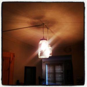 Norgesglasslamper på kjøkkenet