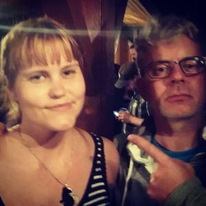 """Tok en """"selfie"""" med Knut Nærum."""
