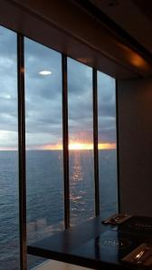 Vakker solnedgang.
