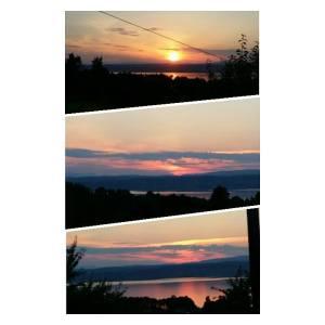 Fine solnedgangen.