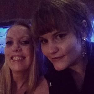 Jane og meg på Bryggerikjelleren.