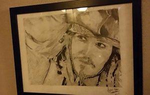 Øyvind har tegnet Jack Sparrow til meg :)