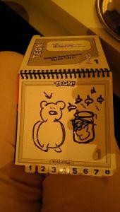 Som jeg tegnet slik.