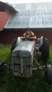 Vi fant en traktor.
