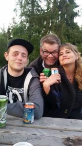John-Are, Kjell -Gunnar og meg.