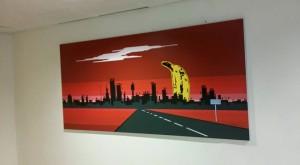 Alternativ kunst på veggen.